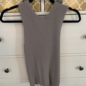 Olivaceous Grey Knit Tank Top - NWT